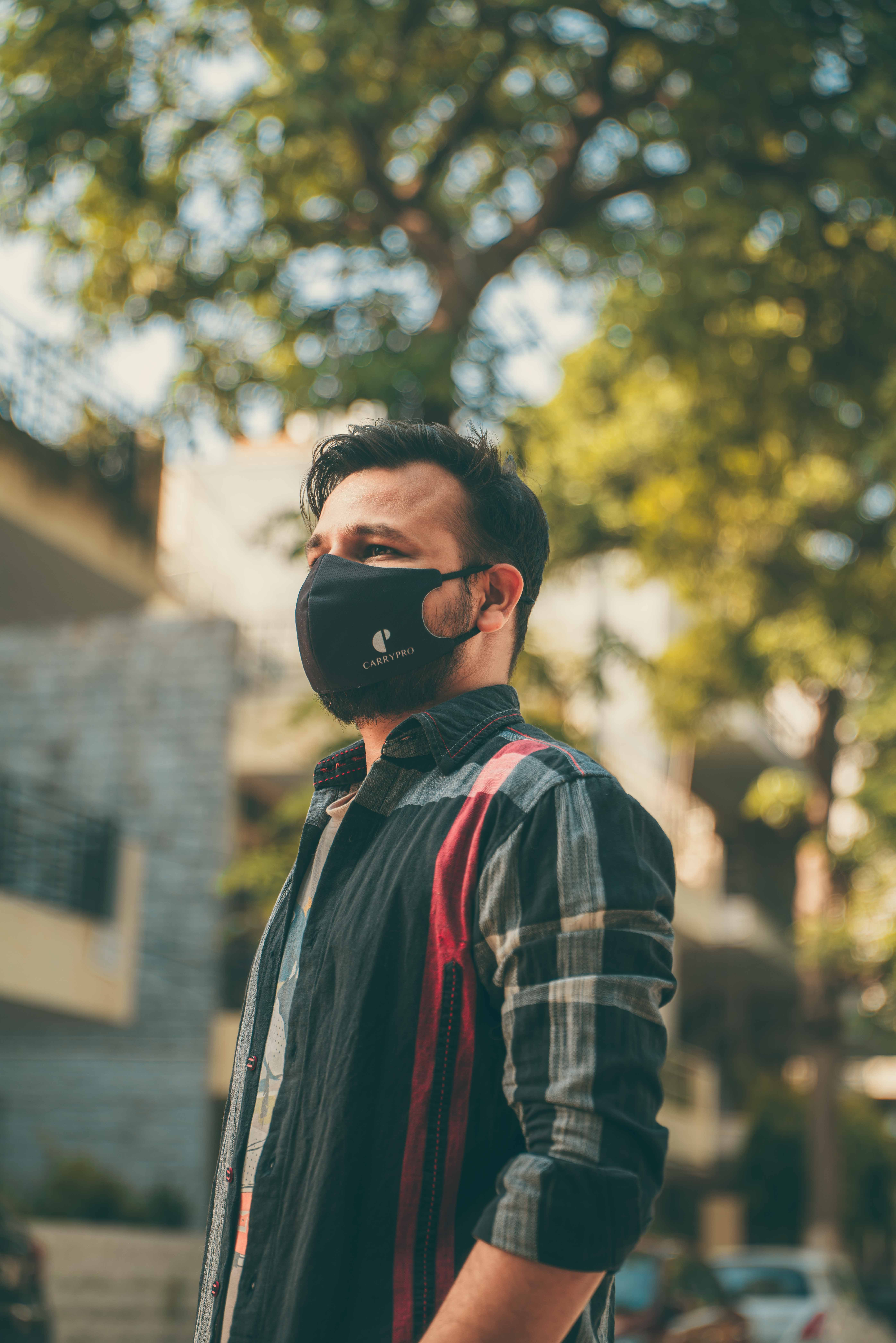 Boy with a face mask by carrypro