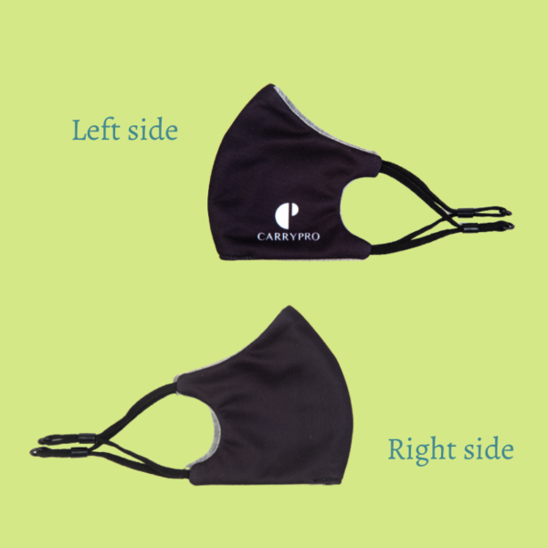 Face mask both sides view by Carrypro